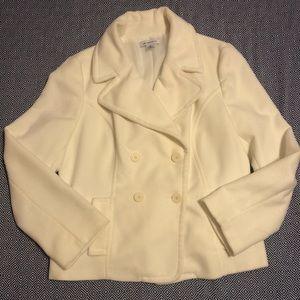 Off white pea coat jacket